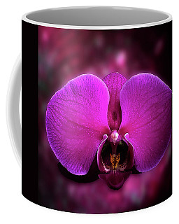 Pink Orchid Portrait Coffee Mug by Joseph Hollingsworth