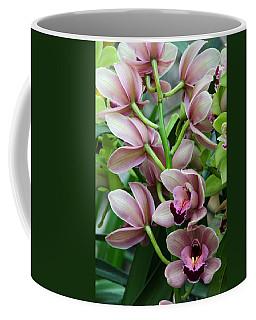 Pink Orchids 2 Coffee Mug by Ann Bridges