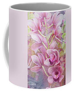 Pink Orchids Coffee Mug by Ann Bridges