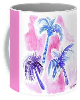 Pink Palm Trees Coffee Mug