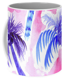 Pink Palm Trees Coffee Mug