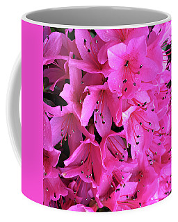 Coffee Mug featuring the photograph Pink Passion In The Rain by Sherry Hallemeier