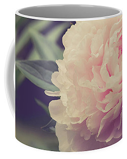 Coffee Mug featuring the photograph Pink Peony Vintage Style by Edward Fielding