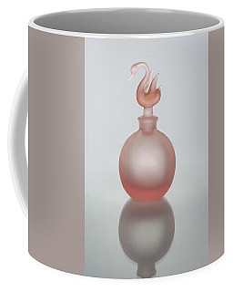 Coffee Mug featuring the photograph Pink Perfume Bottle Vertical by David and Carol Kelly