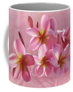 Coffee Mug featuring the photograph Pink Plumeria Pastel By Kaye Menner by Kaye Menner