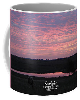 Pink Pond And Cow #5110 Coffee Mug by Barbara Tristan