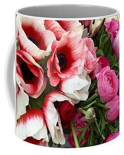 Pink Poppy Anemone Flowers At The Farmers Market Coffee Mug
