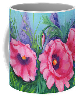 Pink Poppy Field Coffee Mug