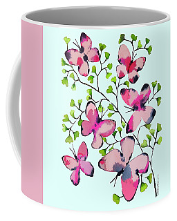 Pink Profusion Butterflies Coffee Mug
