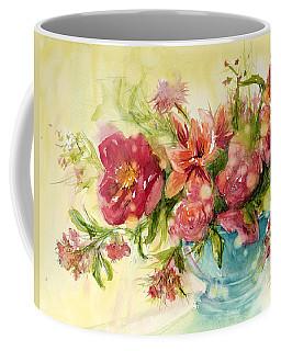 Pink Profusion Coffee Mug by Judith Levins
