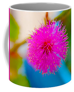 Pink Puff Flower Coffee Mug by Samantha Thome