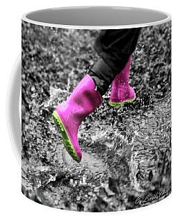 Pink Rain Boots Coffee Mug