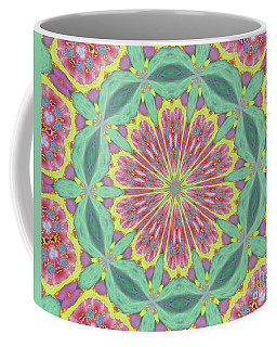 Coffee Mug featuring the photograph Pink Red Green Floral by Shirley Moravec