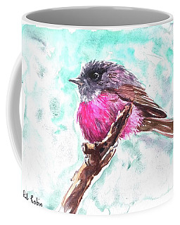 Pink Robin  Coffee Mug