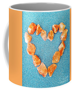 Pink Rocks Heart Coffee Mug