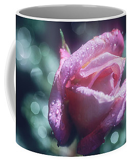 Coffee Mug featuring the photograph Pink Rose After Rain by John Brink