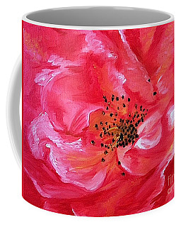 Pink Rose Coffee Mug by Sheron Petrie
