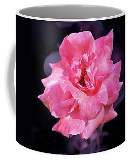 Coffee Mug featuring the photograph Pink Rose With Violet by Howard Bagley
