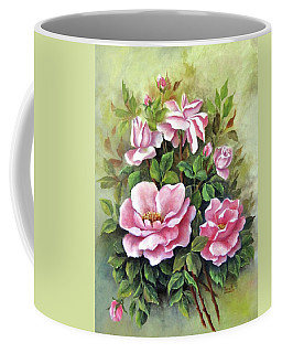 Pink Roses Coffee Mug by Katia Aho