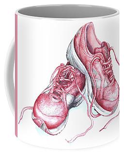 Pink Running Shoes Coffee Mug by Heidi Kriel