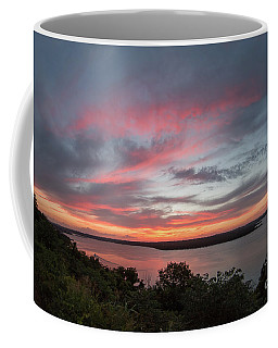 Pink Skies And Clouds At Sunset Over Lake Travis In Austin Texas Coffee Mug