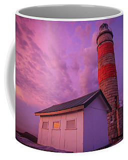 Pink Skies At Cape Moreton Lighthouse Coffee Mug