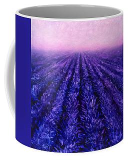 Pink Skies - Lavender Fields Coffee Mug by Karen Whitworth