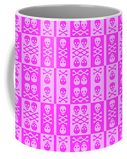 Pink Skull And Crossbones Pattern Coffee Mug