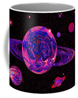 Pink Space Frontier Coffee Mug by Samantha Thome