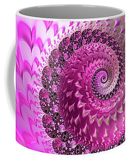 Pink Spiral With Lovely Hearts Coffee Mug