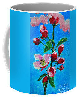 Coffee Mug featuring the painting Pink Spring by Ana Maria Edulescu