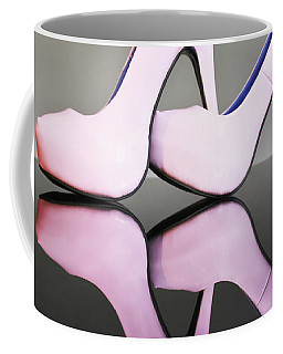 Coffee Mug featuring the photograph Pink Stiletto Shoes by Terri Waters