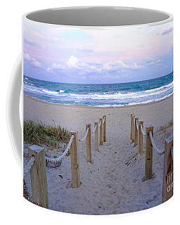 Pink Sunrise Beach Treasure Coast Florida C6 Coffee Mug
