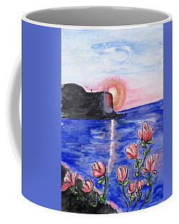 Coffee Mug featuring the painting Pink Sunset by Clyde J Kell