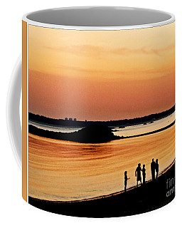 Pink Sunset Beach Wall Art Print Coffee Mug by Carol F Austin