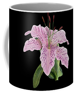 Coffee Mug featuring the digital art Pink Tiger Lily Blossom by Walter Colvin