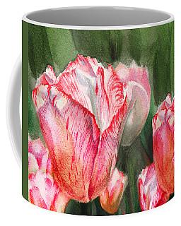 Pink Tulips By Irina Sztukowski Coffee Mug