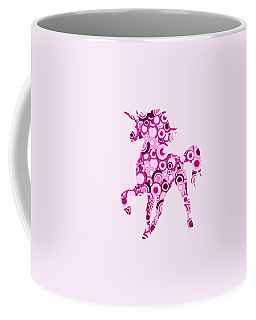 Pink Unicorn - Animal Art Coffee Mug