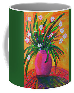 Pink Vase In Warm Afternoon Coffee Mug