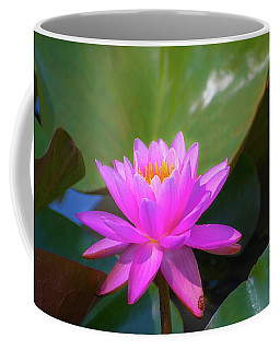 Pink Water Lilly And Ladybugs Coffee Mug