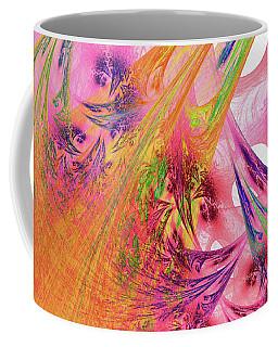 Coffee Mug featuring the digital art Pink Web by Deborah Benoit