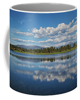 Pinon Lake Reflections Coffee Mug by Jason Coward