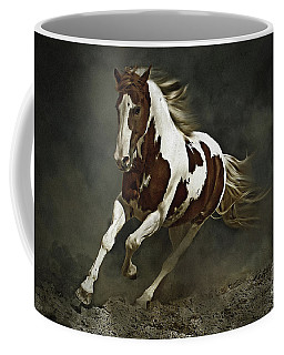 Pinto Horse In Motion Coffee Mug