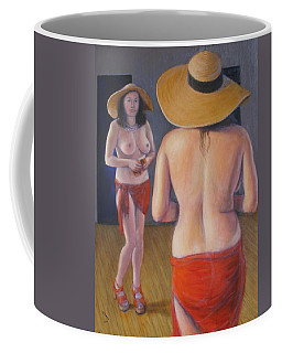 Coffee Mug featuring the painting Pinup #3 by Donelli  DiMaria