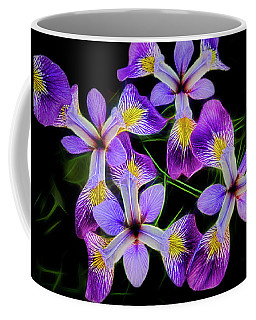 Pinwheel Purple Iris Glow Coffee Mug