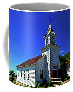 Coffee Mug featuring the photograph Pioneer Church 001 by George Bostian