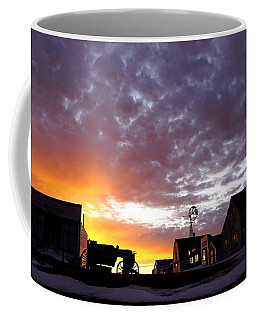 Pioneer Town Sunset Coffee Mug