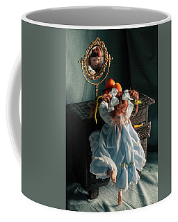 Pippi Longstocking And A Plate Of Nectarines Coffee Mug