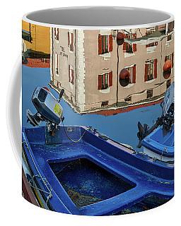 Coffee Mug featuring the photograph Piran Marina Reflections #3 by Stuart Litoff