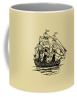 Pirate Ship Artwork - Vintage Coffee Mug